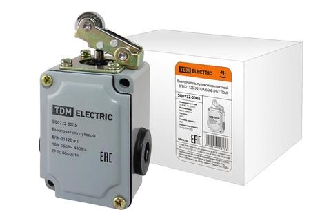Выключатель путевой контактный ВПК-2112Б-У2 10А 660В IP67 TDM