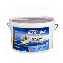 Тиксотропная в/д краска для стен и потолков НОВБЫТХИМ Главный Технолог (белый)