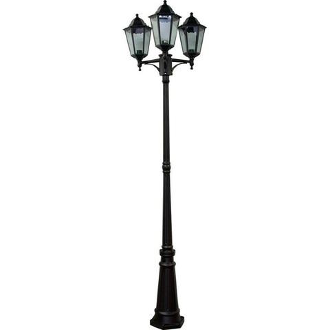 Светильник садово-парковый, 3*100W 230V E27 черный, 6215 (Feron)