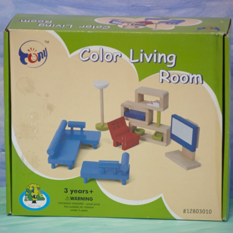 Набор деревянной игрушечной мебели 3010