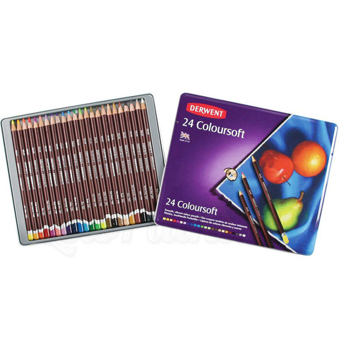 Набор из 24 цветных карандашей Derwent
