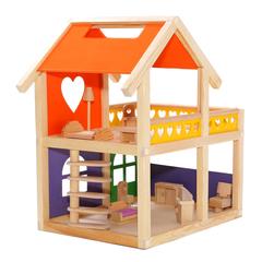 Уютный деревянный домик с набором для изготовления штор