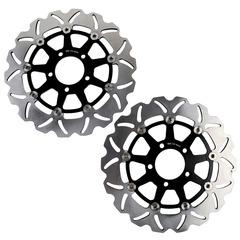 Тормозные диски передние для мотоцикла (2шт.) для Suzuki DL V-Strom 650 04-06, 1000 02-10