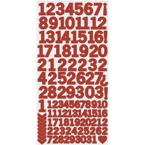 Стикеры с цифрами 15*30см -Kaisercraft Number Stickers - Red