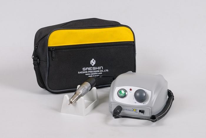 Аппарат для маникюра и педикюра Strong 207A/120, 64 Вт, 30000 об/мин, без педали, с сумкой (фото 1)