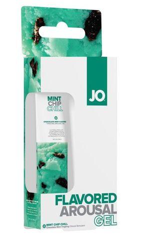 Стимулирующий клиторальный гель со вкусом мятного шоколада JO Mint Chip Chill - 10 мл.