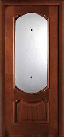 Дверь Виктория ПО (светлый анегри, остекленная шпонированная), фабрика LiGa