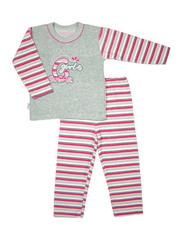 Пижама 029 Таро серо-розовая