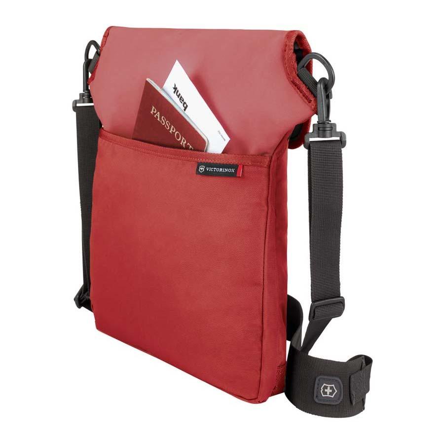 Сумка наплечная Victorinox Altmont 3.0 Flapover Bag, красная, 27x6x32 см, 5 л