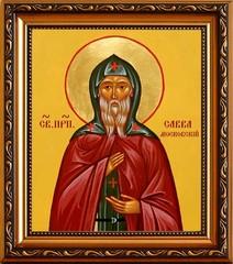 Савва Московский Преподобный. Икона на холсте.