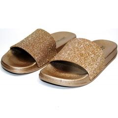 Пляжные шлепанцы женские J.B.P. Shoes NU25 Gold.