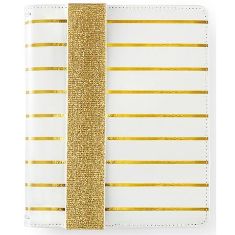 Bullet Journal -Блокнот в точку с тревел обложкой - BULLET PLANNER KIT - Gold Stripe