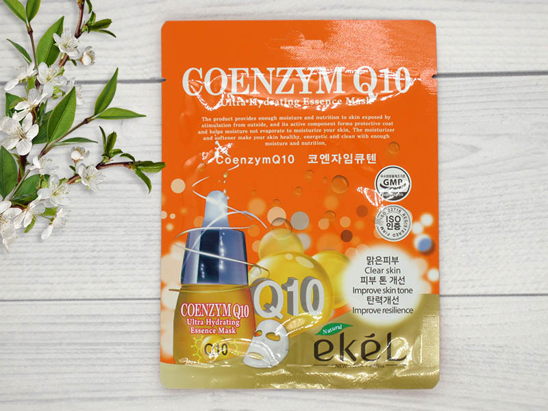 270101 EKEL Тканевая маска для лица с коэнзимом Coenzym Q10