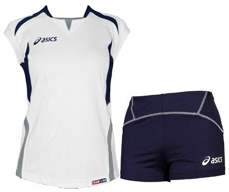 Женская волейбольная форма Asics Set Olympic Lady (T211Z1 0150) белая