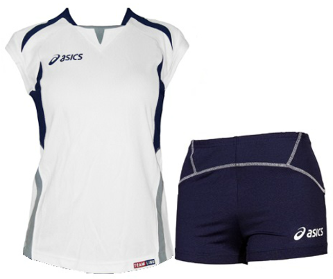 Форма волейбольная Asics Set Olympic Lady женская white