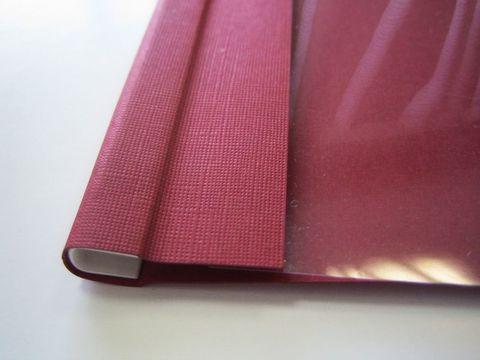 Мягкие обложки C-BIND А4 SOFTCLEAR AA (5мм) бордовые (50 шт.)