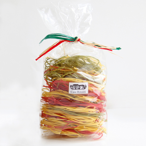 Паста Casa Rinaldi яичная Taльерини Альба трехцветная лапша 250г