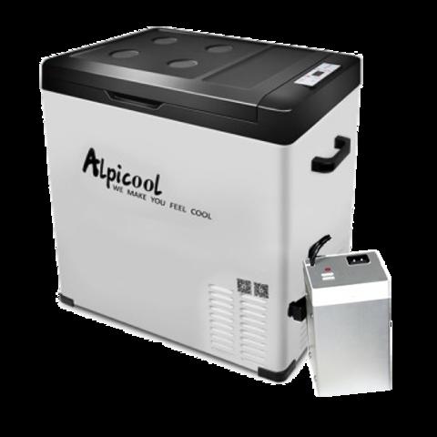 Компрессорный автохолодильник Alpicool ACS-75 (12V/24V/220V, 75л) с внешней батареей