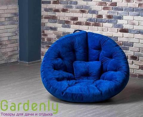 Бескаркасное кресло Оустер велюр XL