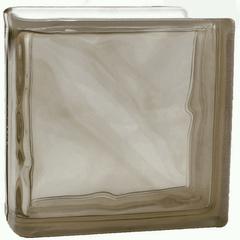 Торцевой стеклоблок коричневый окраска в массе Vitrablok   19x19x8