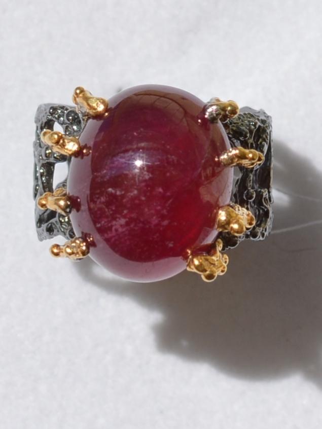 Янина (серебряное кольцо с позолотой)