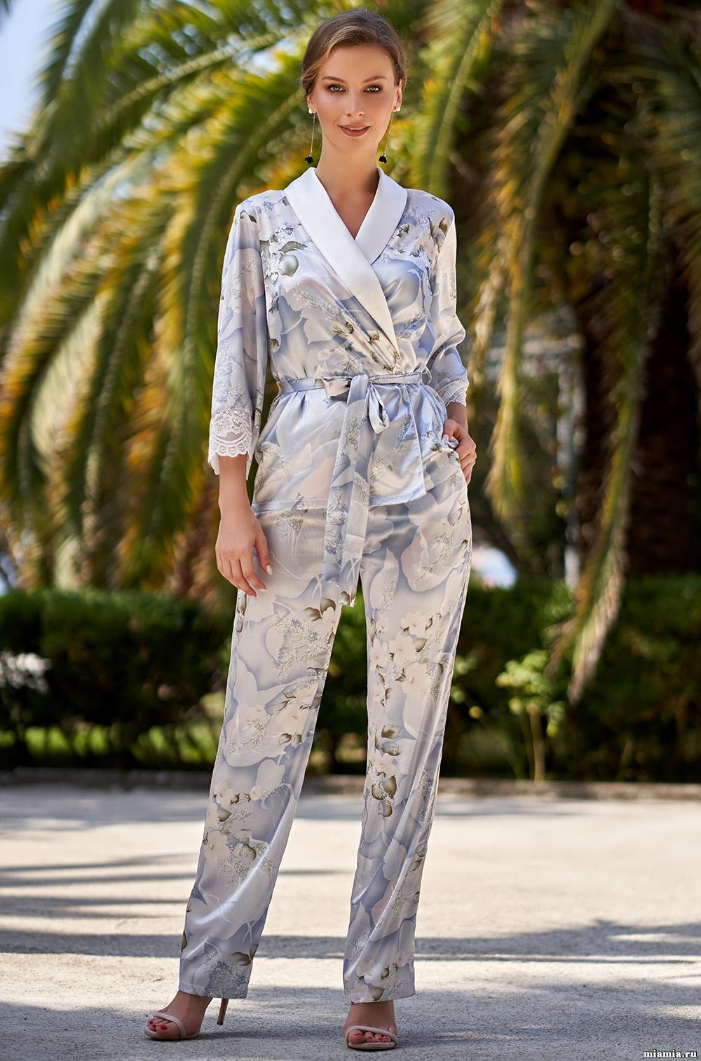 шелк натуральный Комплект домашний с брюками Mia-Amore NOVELLA  НОВЕЛЛА 3606 3606_5.jpg