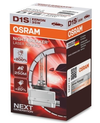 Ксеноновая лампа OSRAM D1S XENARC NIGHT BREAKER LASER D1S +200%