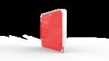 Выключатель пятиканальный Heltun (Красная панель, Белая рамка)