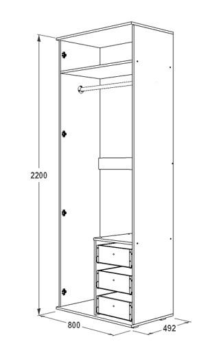 Шкаф 2-х дверный Ольга 14
