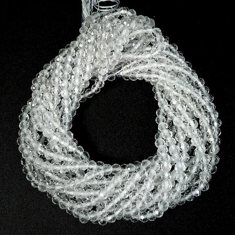 Бусины горный хрусталь A шар граненый 3,2 мм нить 19 см