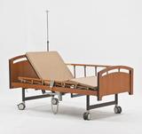 Медицинская кровать с электроприводом YG-3 (MM-93) (2 функции), с туалетным устройством, ЛДСП под дерево