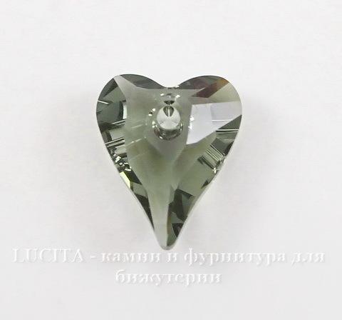 6240 Подвеска Сваровски Сердечко Wild Heart Black Diamond (12 мм) (1)