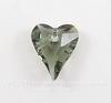 6240 Подвеска Сваровски Сердечко Wild Heart Black Diamond (12 мм)
