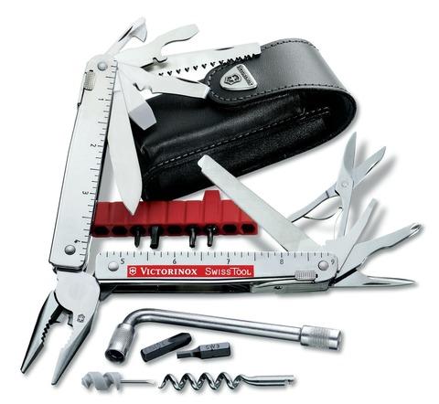 Мультитул Swiss Tool 3.0338.L с чехлом из кожи