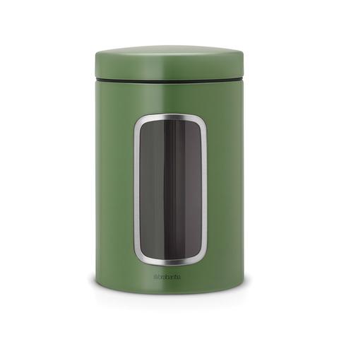 Контейнер для сыпучих продуктов с окном (1,4 л), Зеленый мох, арт. 486005 - фото 1