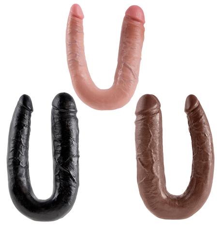 Двойной дилдо King Cock U-Shaped Large Double Trouble (цвета в ассортименте)