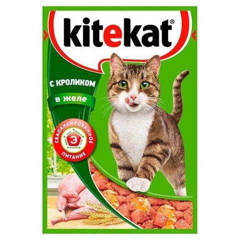 "Корм для кошек Kitekat ""Кролик в желе"" 85г"