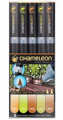 Набор маркеров Chameleon Earth Tones, оттенки земли, 5 шт.