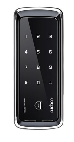 Электронный замок LocPro GL725B2 Series Black без монтажных пластин (для стеклянных дверей)