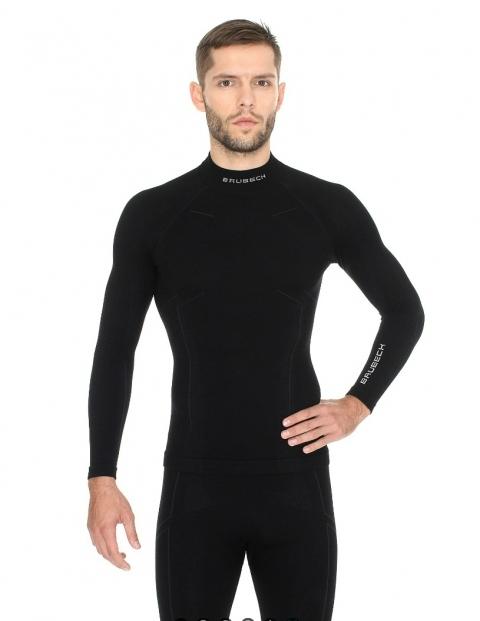 Мужская терморубашка Brubeck Wool Merino (LS11920) черная