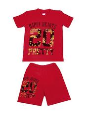 DL11-73-17-9 Комплект детский, красный (футболка+шорты)