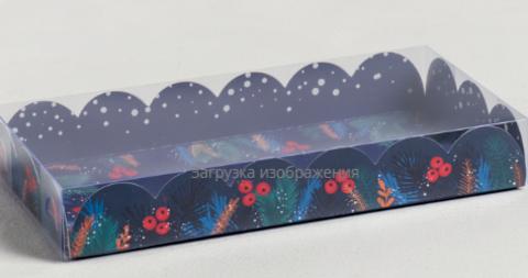 060-0108 Коробка для кондитерских изделий с PVC крышкой «Сказка», 10.5 × 21 × 3 см