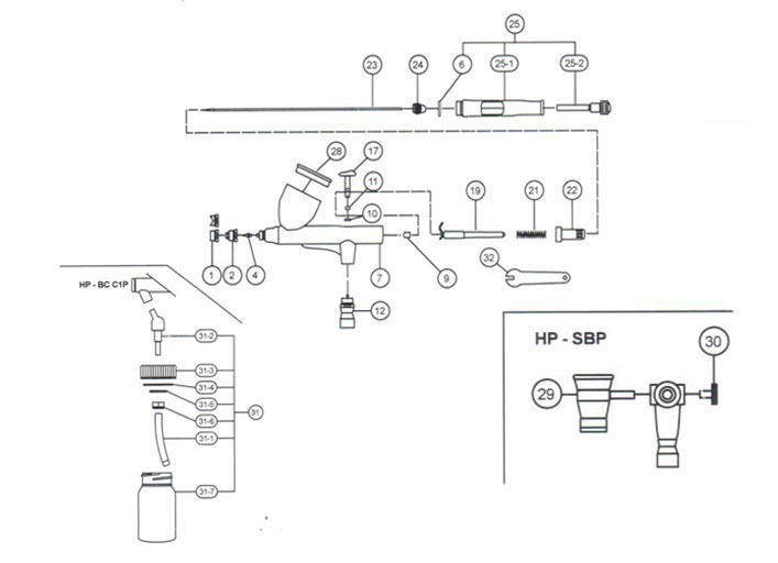 Аэрограф Iwata HP-SB-Plus