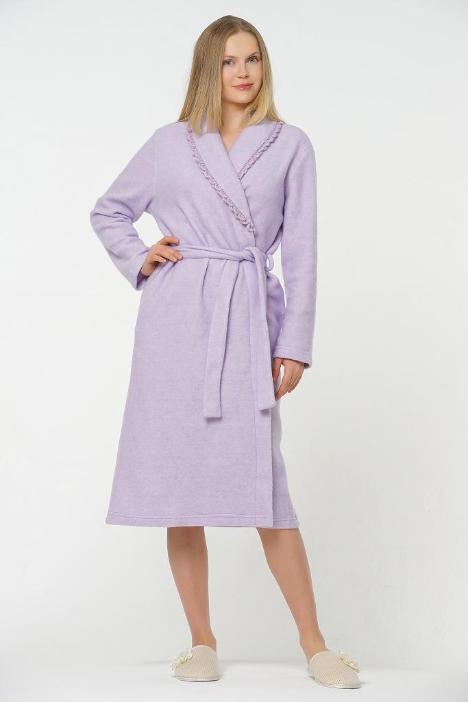 Лиловый женский халат B&B