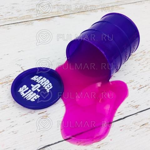Лизун слайм в бочке Barrels O Slime маленький Фиолетовый