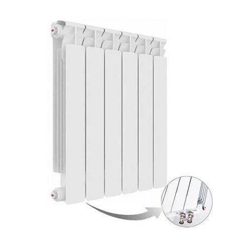 Радиатор биметаллический секционный Rifar Alp Ventil 500 - 8 секций (подключение нижнее левое)