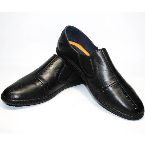 Летние туфли мокасины кроссовки черные стиль смарт кэжуал Luciano Bellini