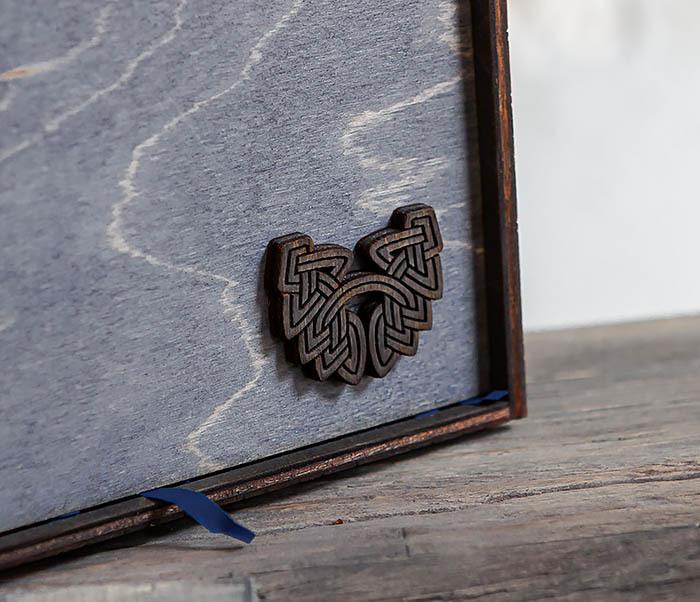 BOX231-1 Деревянная фирменная коробка формата А6 (19*15*6 см) фото 08