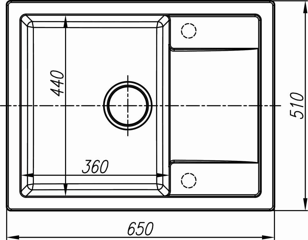 Схема кухонная мойка Dr. Gans Techno 650
