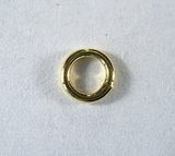 Кольцо неразъемное, 6x1 мм, позолоченное, 5 шт.